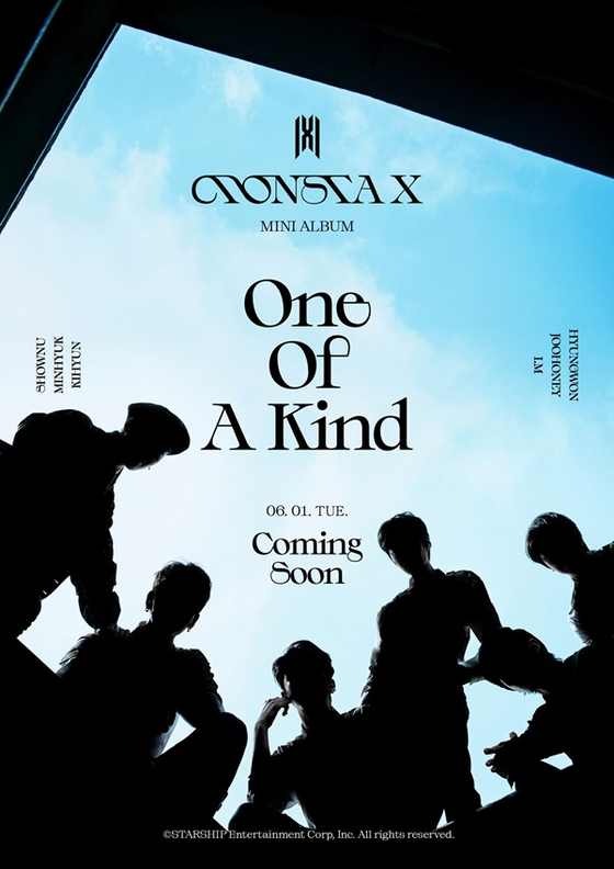 A teaser image for Monsta X's new mini album ″One Of A Kind.″ [STARSHIP ENTERTAINMENT]
