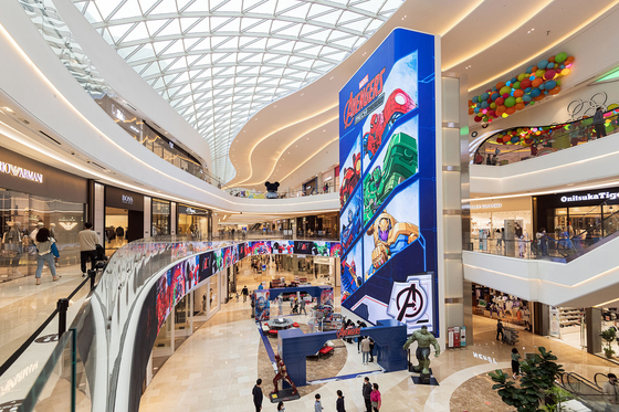 A Marvel Mania campaign begins at Starfield Hanam in Gyeonggi. Starfield announced Monday that it would be holding a ″Family Festa″ event across all of its shopping complexes. The month of May is celebrated as family month in Korea. [YONHAP]