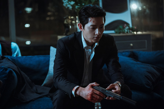 """Song Joong-ki as heartless lawyer Vincenzo in tvN's """"Vincenzo."""" [TVN]"""