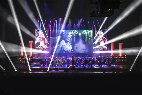 """The """"League of Legends Live: The Orchestra"""" concert took place on April 9 and 10 at the Sejong Center for the Performing Arts. [SEJONG CENTER FOR THE PERFORMING ARTS]"""