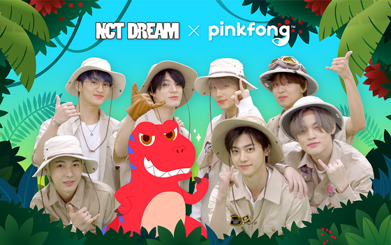Boy band NCT Dream collaborated with education brand Pinkfong [SM ENTERTAINMENT]