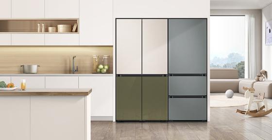 Samsung Electronics' Bespoke refrigerator. Aesthetically pleasing home appliances are popular among Koreans. [NEWS1]