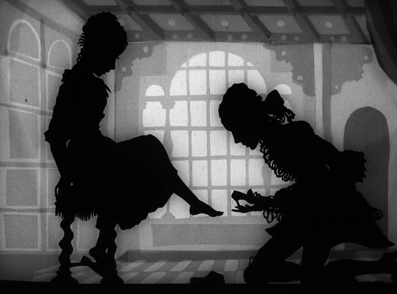 """This image, provided by absolut Medien GmbH via the National Museum of Modern and Contemporary Art (MMCA), shows a clip from Lotte Reiniger's 1933 animation """"Cinderella."""" [MMCA]"""