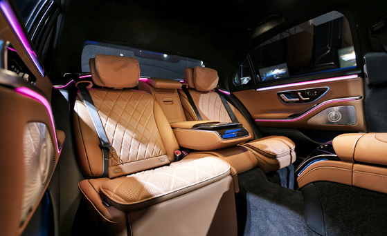 The back row of the Mercedes-Benz seventh generation S-Class [MERCEDES-BENZ KOREA]