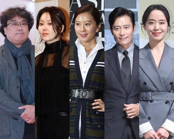 From left, director Bong Joon-ho and actors Ko Hyun-jung, Kim Hee-ae, Lee Byung-hun and Jeon Do-yeon will attend this year's Baeksang Arts Award on May 13 as presenters. [ILGAN SPORTS]