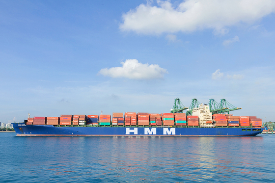 HMM's 5,000 TEU container ship that transports cargo to India [HMM]