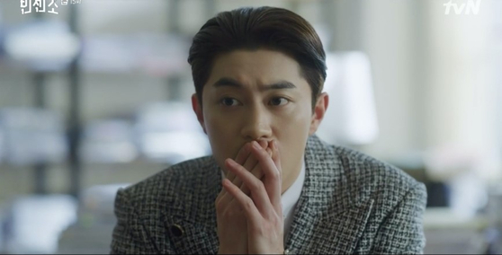 """Kwak Dong-yeon as the acting chairman of powerful conglomerate Babel Group and a villain in the recently ended tvN series """"Vincenzo."""" [TVN]"""