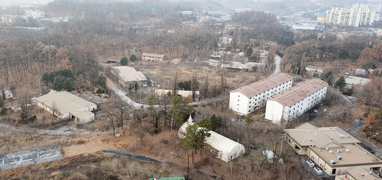 A view of the former Camp Long site in Wonju city, Gangwon. A public art museum will be built at the former U.S. Forces Korea (USFK) base. [YONHAP]