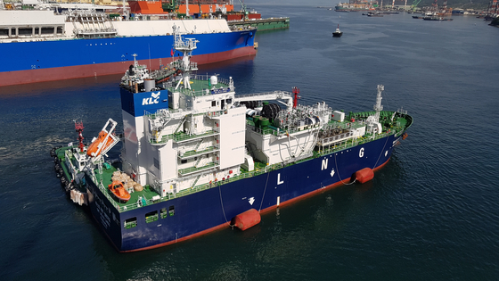 Korea LNG Bunkering deploys Jeju 2 for its first ship-to-ship liquefied natural gas bunkering. [KOLB]