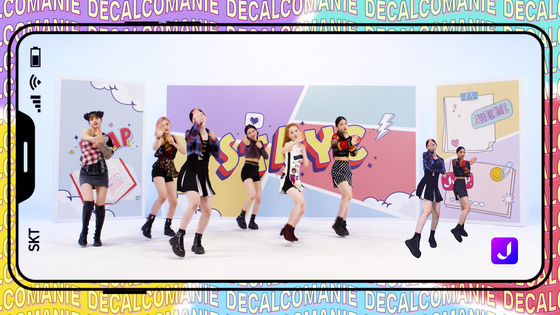 A music video of girl group STAYC's ″ASAP″ will be released on Thursday. The video has been created as a part of the telecom company's ″K-pop Metaverse Project″ and has been shot ″against a metaverse background″ according to SK Telecom. [SK TELECOM]