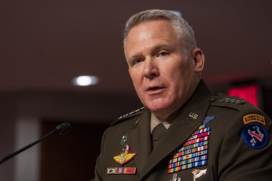 Gen. Paul LaCamera, the nominee for commander of the U.S. Forces Korea, testifies at the Senate Armed Services Hearing in Washington Tuesday. [UPI/YONHAP]