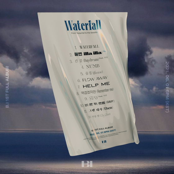 The list of tracks on B.I's upcoming album ″Waterfall″ to drop on June 11 [IOK COMPANY BY 131LABEL]