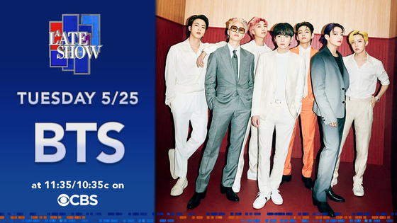 """BTS will be returning to ″The Late Show with Stephen Colbert"""" on May 25. [SCREEN CAPTURE]"""