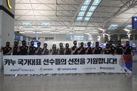 태국 파타야에서 열린 2021 년 아시아 올림픽 예선에는 총 11 명의 한국 선수가 출전했다. [Korea Canoe Federation]