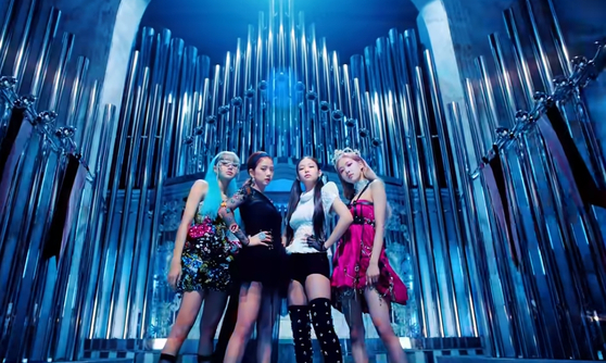 A scene from Blackpink's music video ″Kill This Love″ (2019), which garnered 1.3 billion views Saturday. [YOUTUBE CAPTURE]