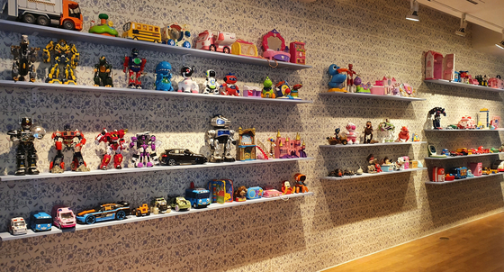 """Collection of plastic toys in the plastic section """"Playful Plastic"""" [HALEY YANG]"""