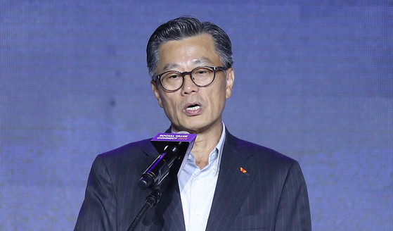 Cho Dae-sik, chairman of the SK Supex Council.  [YONHAP]