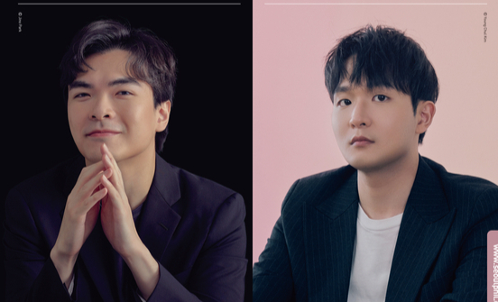 """The Seoul Philharmonic Orchestra will accompany pianist Sunwoo Yekwon, right, to perform Mozart's ″Piano Concerto No. 25 in C major, K. 503"""" under the baton of Wilson Ng, left. [SEOUL PHILHARMONIC ORCHESTRA]"""