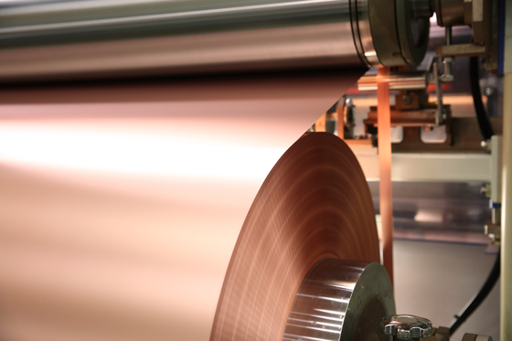 A roll of copper foil produced by SK Nexilis [SKC]