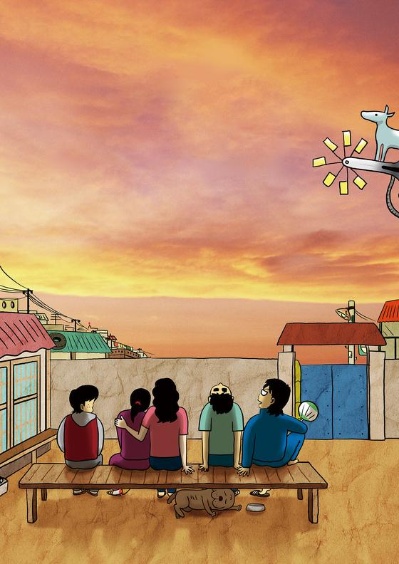 A scene from Joo Ho-min's popular webtoon series ″Perpetual Motion″ [SEOUL MUSEUM OF ART]