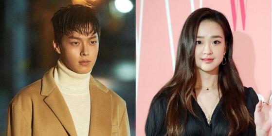 Actor Jang Ki-yong, left, and former rhythmic gymnast Son Yeon-jae. [ILGAN SPORTS]