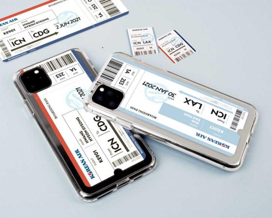 Korean Air Lines' customized smartphone cases [KOREAN AIR LINES]