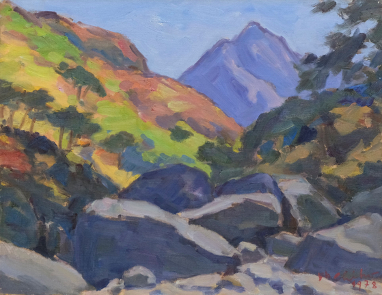 """The Lee collection donated to Gwangju Museum of Art includes """"Valley in Autumn""""(1978) by Oh Ji-ho (1905-1982).  [Gwangju Museum of Art]"""