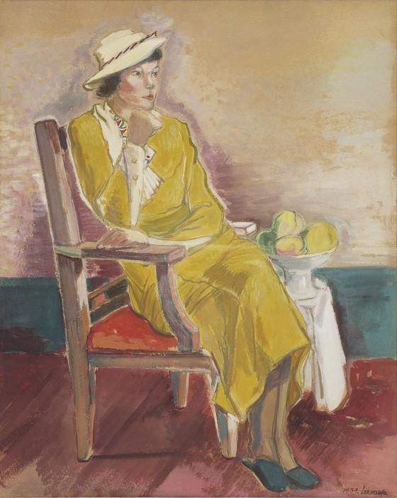 """The Lee Kun-hee collection donated to Daegu Art Museum include """"Woman in Yellow""""(1934) by Lee In-sung (1912-1950). [Daegu Art Museum]"""