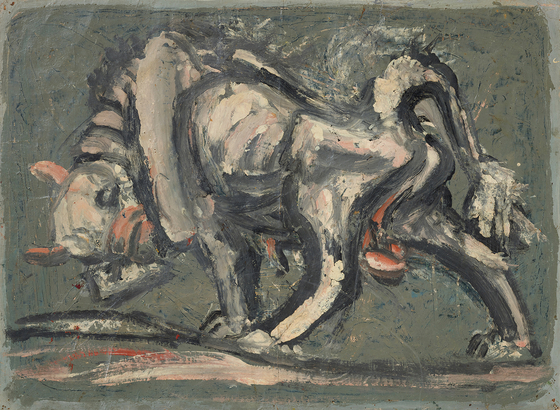 """""""White Bull"""" by Lee Jung-seob (1916-1956) is also among the Lee collection donated to the MMCA.  [MMCA]"""