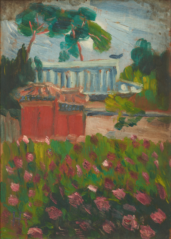 """""""Peonies of Hwayeongjeon Palace"""" by the pioneering feminist writer and painter Na Hye-sok (1896-1948) is among the Lee collection donated to the MMCA. The remaining works by Na are scarce. [MMCA]"""
