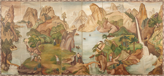 """Among the Lee Kun-hee collection donated to the MMCA is """"Paradise (1937) by Baik Namsoon (1904-1994). She was a rare female painter in Korea in the early 20th century. The painting is the only one remaining among the works she created at the height of her career.  [MMCA]"""