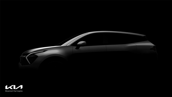 A teaser image released Monday shows the upgraded version of Kia's popular crossover SUV Sportage on Monday. It is the first upgrade since the release of the fourth generation in 2015. The crossover, which made its debut in 1993, has sold more than 6 million units globally. [KIA]