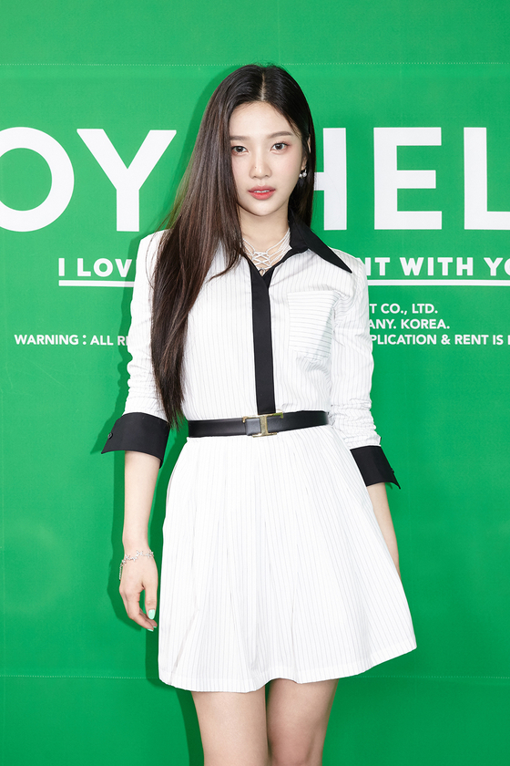 Singer Joy poses for photos prior to the online showcase held on Monday for her first solo album ″Hello.″ [SM ENTERTAINMENT]
