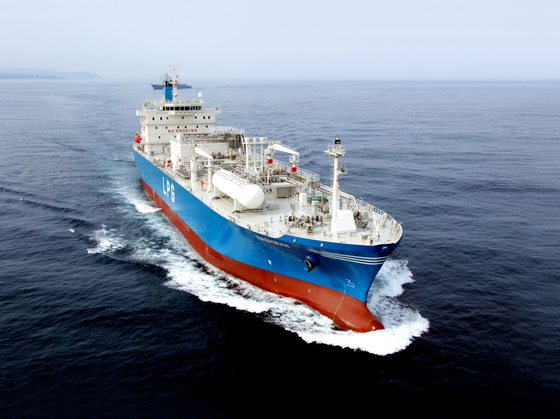 A liquefied petroleum gas carrier built by Hyundai Heavy Industries [KOREA SHIPBUILDING & OFFSHORE ENGINEERING]