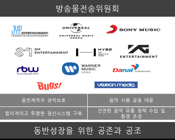 Eleven members of the newly-formed Broadcasting Transmission Committee (translated). [KOREA MUSIC CONTENT ASSOCIATION]