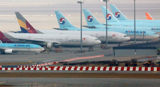 Asiana Airlines and Korean Air Lines aircraft [NEWS1]