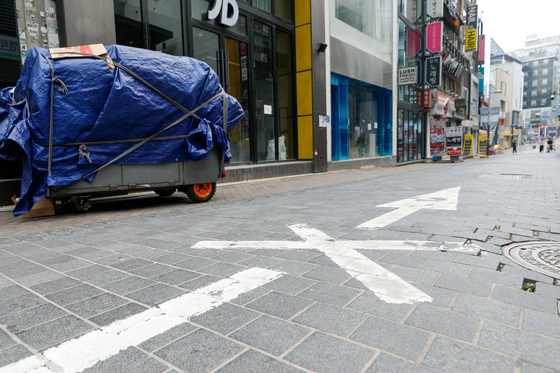 Empty street in Myeong-dong, central Seoul on June 6 [NEWS1]