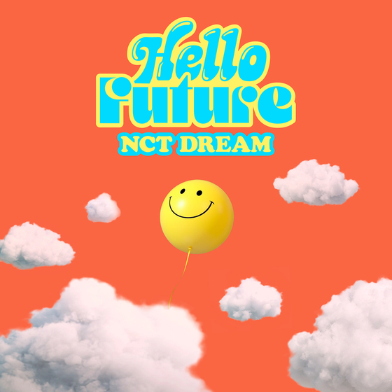 The album cover for the repackaged version of NCT Dream's first full-length album ″Hot Sauce″ (2021), titled ″Hello Future.″ [SM ENTERTAINMENT]