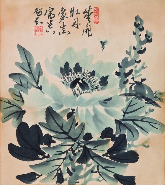 """""""Moran"""" or """"Poeny"""" by Jihong Park Bong-soo (1916-91) [COREANA MUSEUM OF ART]"""
