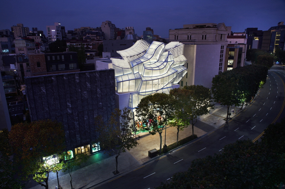 A view of Louis Vuitton Maison Seoul, which was designed by the renowned architect Frank Gehry and opened in 2019. [LOUIS VUITTON]