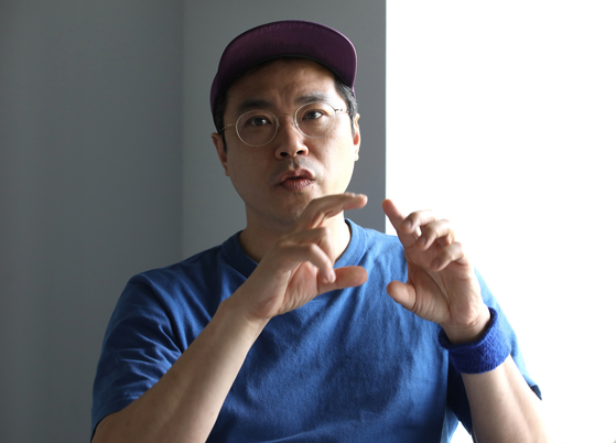 Bek Hyun-jin during an interview with the Korea JoongAng Daily on Wednesday [PARK SANG-MOON]