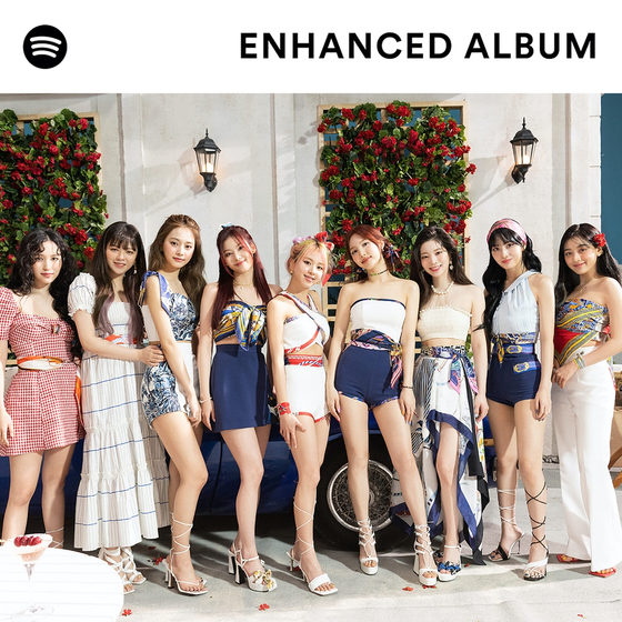 Cover poster for Twice's enhanced album ″Taste of Love,″ which will be released by Spotify on Friday. [SPOTIFY]