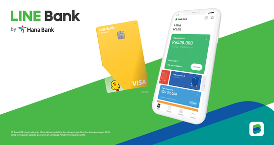 Image of Line Bank by Hana Bank's mobile app and debit card for Indonesian customers [HANA FINANCIAL GROUP]