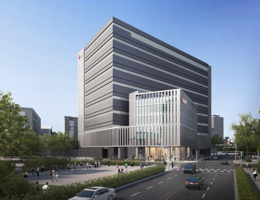 A computer image of LG U+'s second hyperscale data center in Anyang, Gyeonggi, set for completion in 2023. [LG U+]