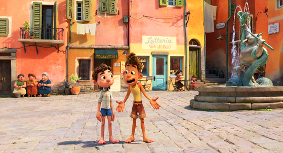 According to Joh, director Enrico Casarosa wanted the film to be depicted in watercolor textures using clear and bright colors. [WALT DISNEY COMPANY KOREA]