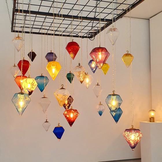 Glass lamps by Youn [HALEY YANG]
