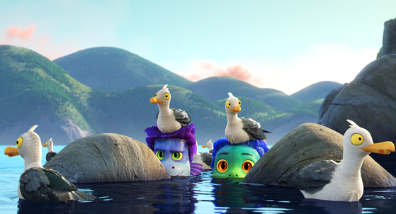 """In Disney and Pixar's """"Luca,"""" two sea monsters venture out to a town in the Italian Riviera, where they can look like regular boys on land and spend an unforgettable summer. [WALT DISNEY COMPANY KOREA]"""