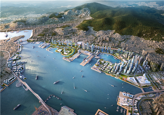 An area near the Busan North Port, where the Busan city government is proposing to hold the World Expo in 2030. [BUSAN METROPOLITAN CITY]