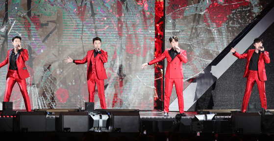 The Forestella, a popular crossover vocal quartet, will be holding a two-day concert at the Olympic Park in eastern Seoul. [YONHAP]