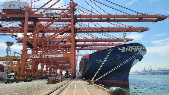 HMM ship at a port in Busan [HMM]